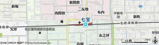 愛知県あま市七宝町沖之島(北島)周辺の地図