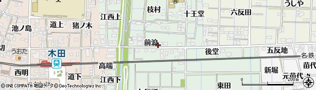 愛知県あま市金岩(前浪)周辺の地図