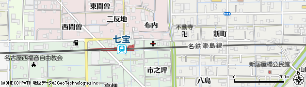 愛知県あま市七宝町沖之島(市之坪)周辺の地図