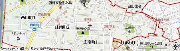 愛知県尾張旭市庄南町周辺の地図
