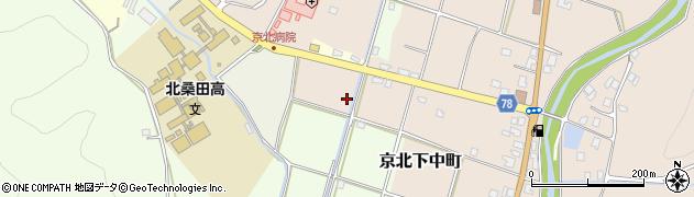 京都府京都市右京区京北下中町(新ヤタ田)周辺の地図