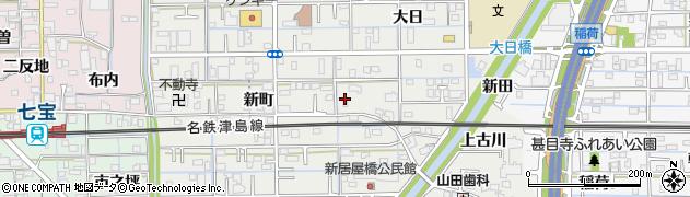 愛知県あま市新居屋新町周辺の地図