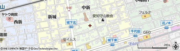 愛知県名古屋市守山区中新周辺の地図