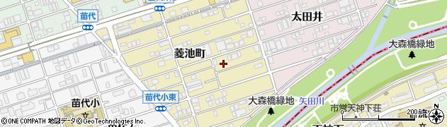 愛知県名古屋市守山区菱池町周辺の地図