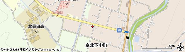 京都府京都市右京区京北下中町(新赤田)周辺の地図