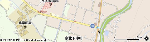 京都府京都市右京区京北下中町(七町田)周辺の地図