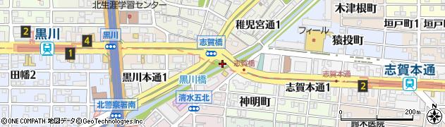 愛知県名古屋市北区志賀町蒲生原周辺の地図