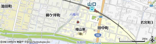 愛知県瀬戸市田中町周辺の地図