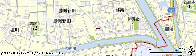 愛知県稲沢市平和町(城西)周辺の地図
