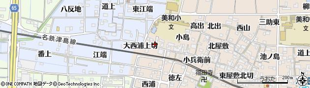 愛知県あま市木田(西高出)周辺の地図