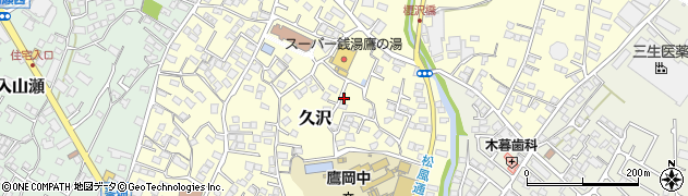 静岡県富士市久沢周辺の地図
