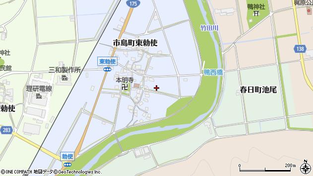 〒669-4331 兵庫県丹波市市島町東勅使の地図