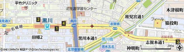 愛知県名古屋市北区志賀南通周辺の地図