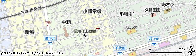 愛知県名古屋市守山区小幡常燈周辺の地図