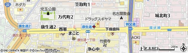 愛知県名古屋市西区康生通周辺の地図