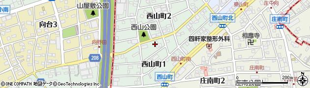愛知県尾張旭市西山町周辺の地図