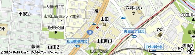愛知県名古屋市北区山田町周辺の地図