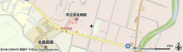 京都府京都市右京区京北下中町(新柿ノ木)周辺の地図