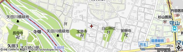 愛知県名古屋市守山区市場周辺の地図