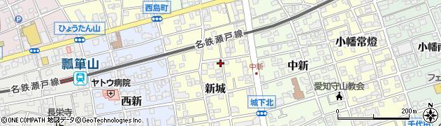 愛知県名古屋市守山区新城周辺の地図