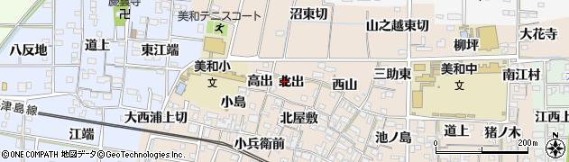 愛知県あま市木田(北出)周辺の地図
