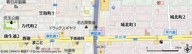愛知県名古屋市西区浄心本通周辺の地図