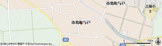 兵庫県丹波市市島町与戸周辺の地図