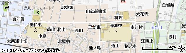 愛知県あま市木田(三助東)周辺の地図