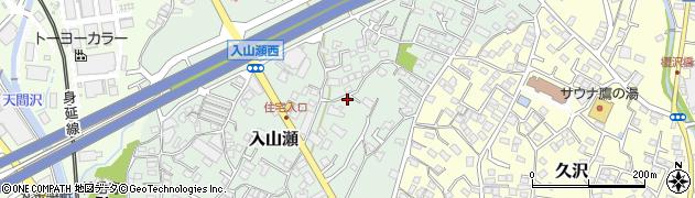 静岡県富士市入山瀬周辺の地図