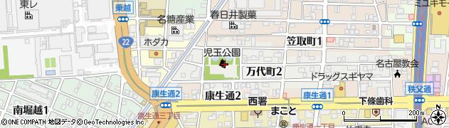 愛知県名古屋市西区万代町周辺の地図