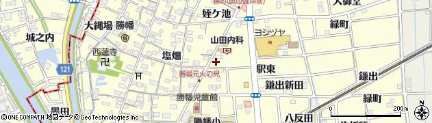 愛知県愛西市勝幡町(出崎)周辺の地図