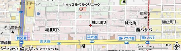 愛知県名古屋市西区城北町周辺の地図