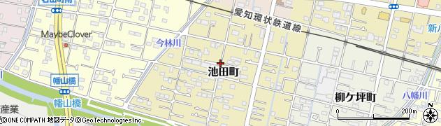 愛知県瀬戸市池田町周辺の地図