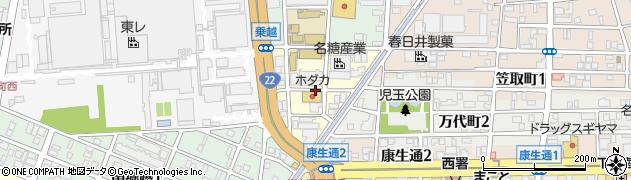 愛知県名古屋市西区東岸町周辺の地図