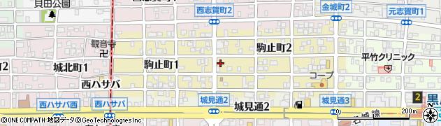 愛知県名古屋市北区駒止町周辺の地図
