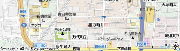パステリアカフェK2周辺の地図