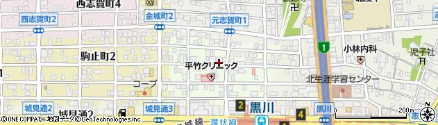 愛知県名古屋市北区敷島町周辺の地図