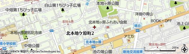 愛知県尾張旭市北本地ケ原町周辺の地図