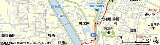 愛知県稲沢市平和町(城之内)周辺の地図