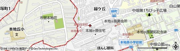 愛知県尾張旭市緑町周辺の地図
