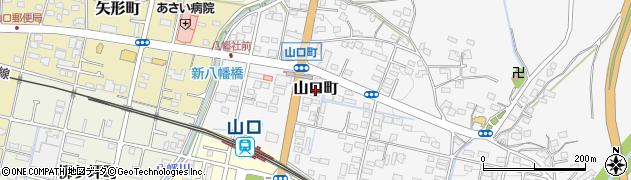 愛知県瀬戸市山口町周辺の地図