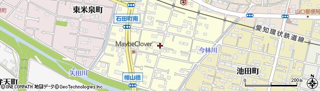 愛知県瀬戸市石田町周辺の地図