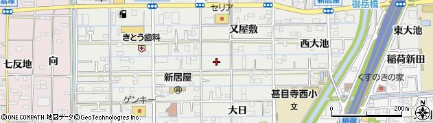 愛知県あま市新居屋周辺の地図