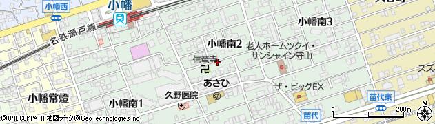愛知県名古屋市守山区小幡南周辺の地図