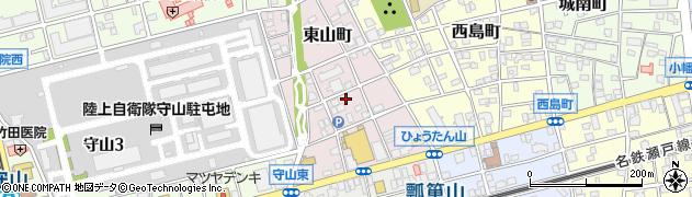 愛知県名古屋市守山区東山町周辺の地図