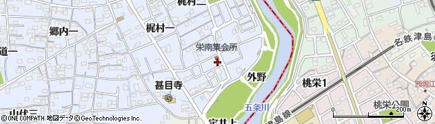 愛知県あま市西今宿(梶村三)周辺の地図