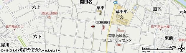 愛知県愛西市草平町(中切)周辺の地図