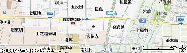 愛知県あま市花正(長島)周辺の地図