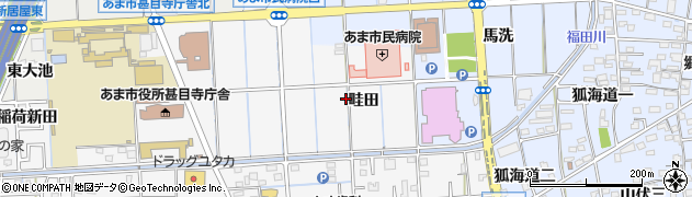 愛知県あま市甚目寺(畦田)周辺の地図