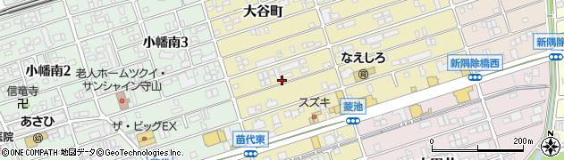 愛知県名古屋市守山区大谷町周辺の地図